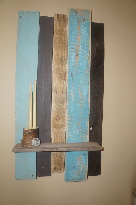 Pallet Background Shelf-turquoise variation