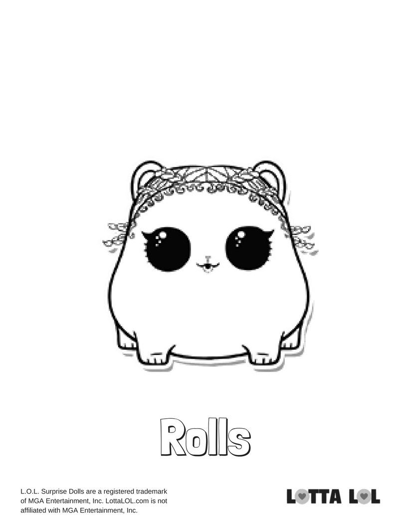 Rolls Coloring Page Lotta Lol Lol Surprise Series 3 Pets Coloring