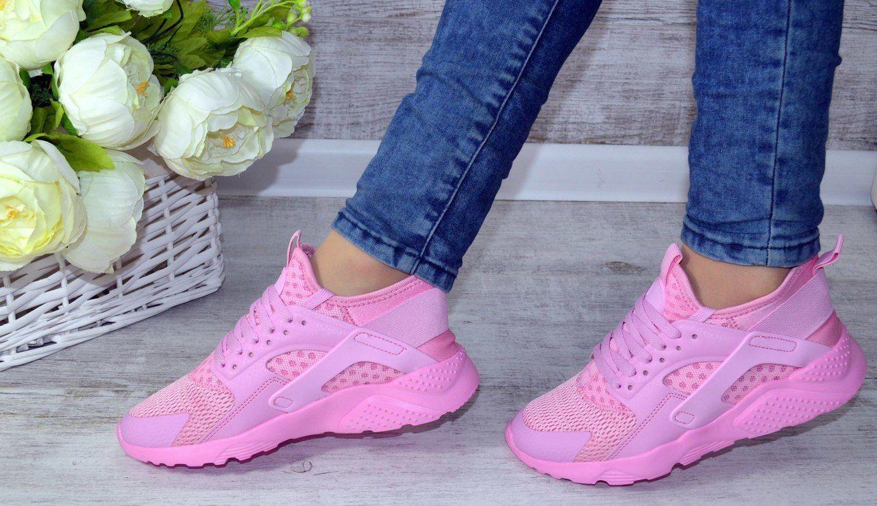 Nike Huarache кроссовки женские летние в розовом цвете ...