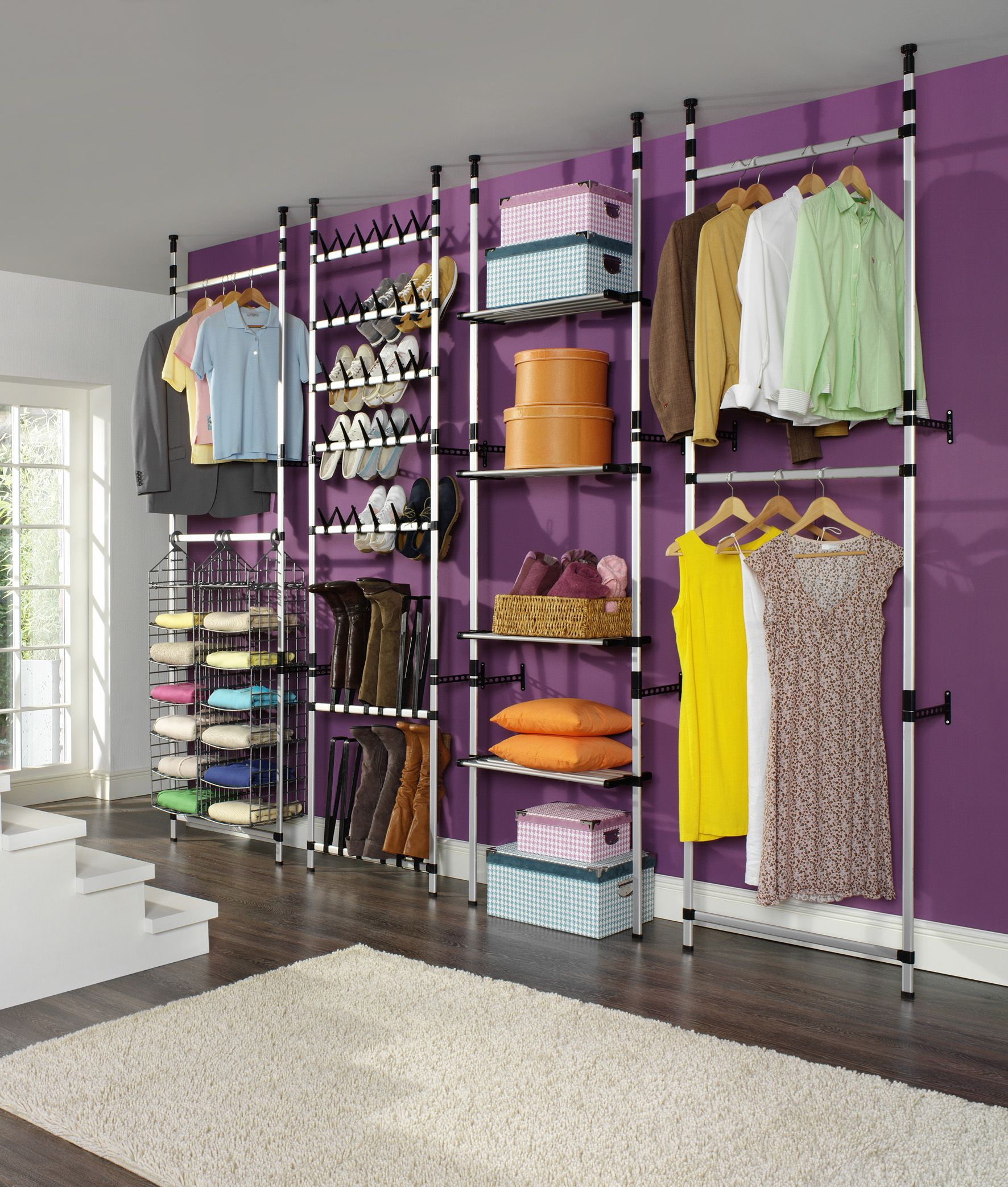 An Innovative And Versatile Storage Solution For Clothes Shoes Hats And More Diy Clothes Storage Closet Storage Design Closet Decor