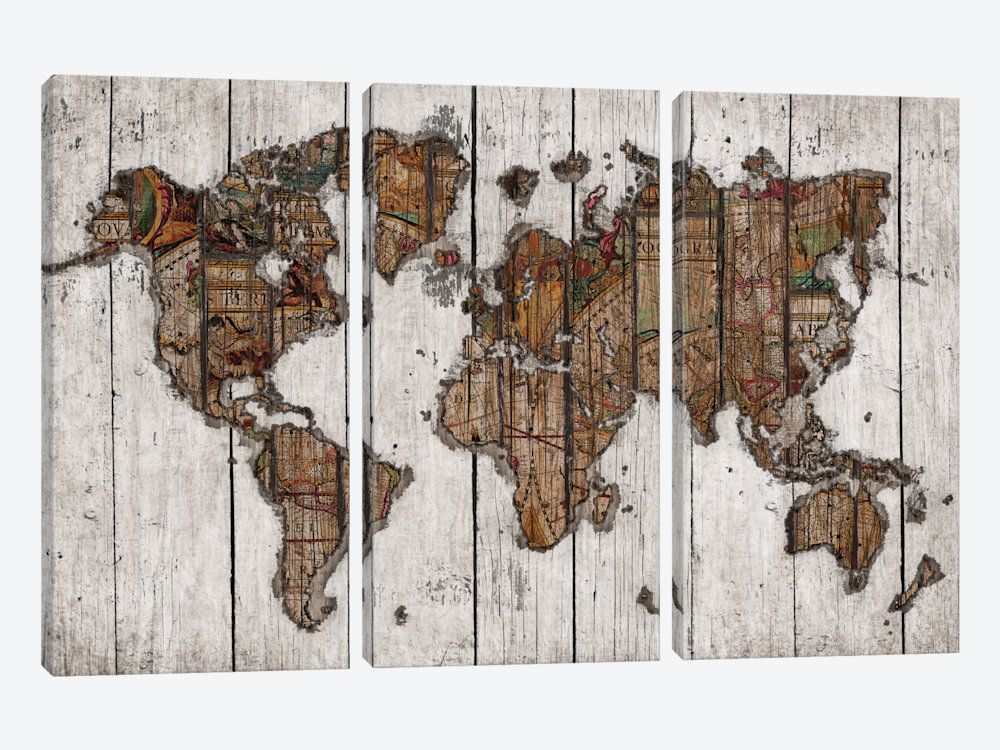Wood map canvas print by diego tirigall woods interiors and house wood map canvas print by diego tirigall gumiabroncs Images