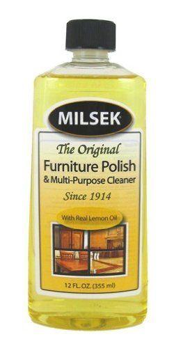 Milsek Furniture Polish With Lemon Oil By Milsek 9 95 12 Oz