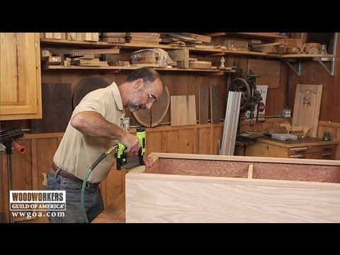 George Vondriska uses a 2″ length 23 gauge headless pinner from GREX to demonstrate the simple process for adding a face frame and decorative trim to your new cabinet or bookshelf project. The pins are so small you can hardly see them! http://www.youtube.com/watch/?v=yRDCr-rKEKU #WWGOA