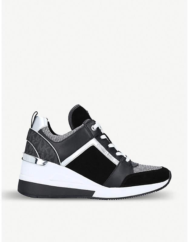 ae56c7e735 MICHAEL Michael Kors Georgie leather wedge trainers in 2019 ...