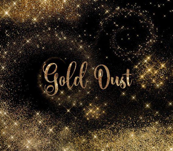 Sparkle fairy. Gold dust clipart glitter