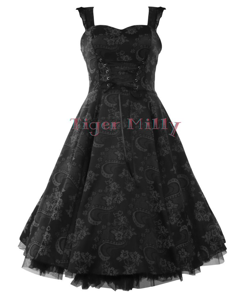 Details about hearts u roses hur us rockabilly brocade floral