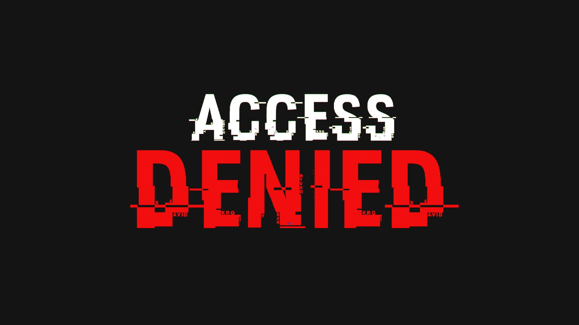 Access Denied Text Alpha Channel Stock Footage Text Denied