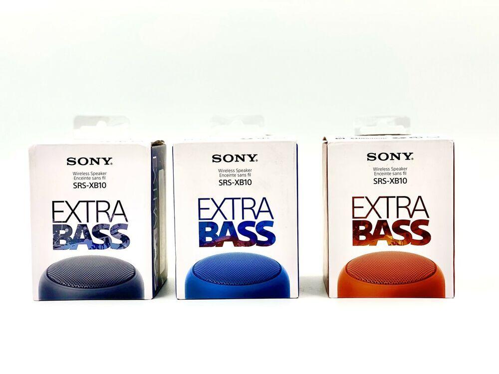 Sony GENUINE SRS-XB10 Portable Wireless Speaker with EXTRA BASS NEW