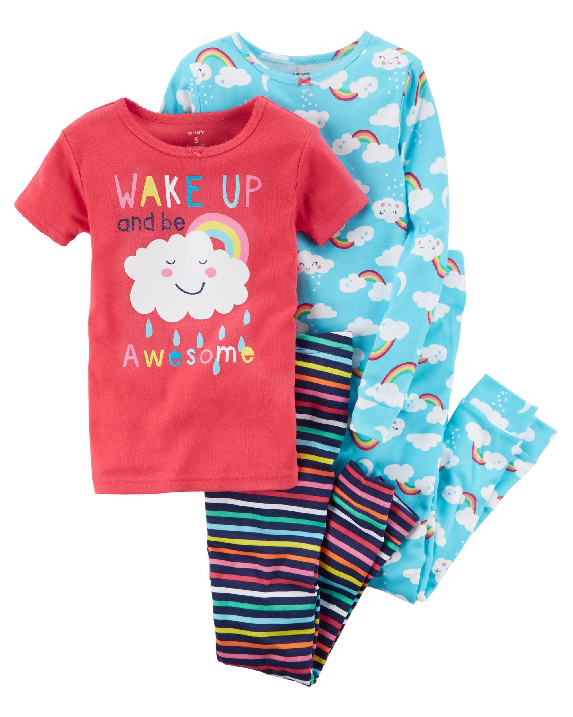 2436240e 4-Piece Rainbow Snug Fit Cotton PJs   Interesting Pins   Girls ...