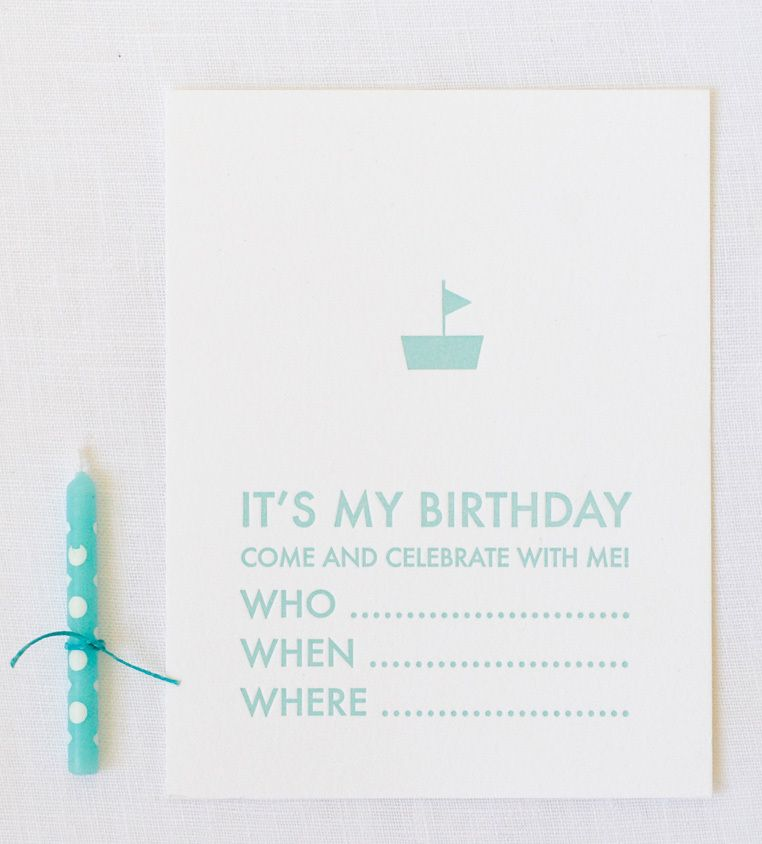 simple birthday invite can easily adapt to something fishier haha