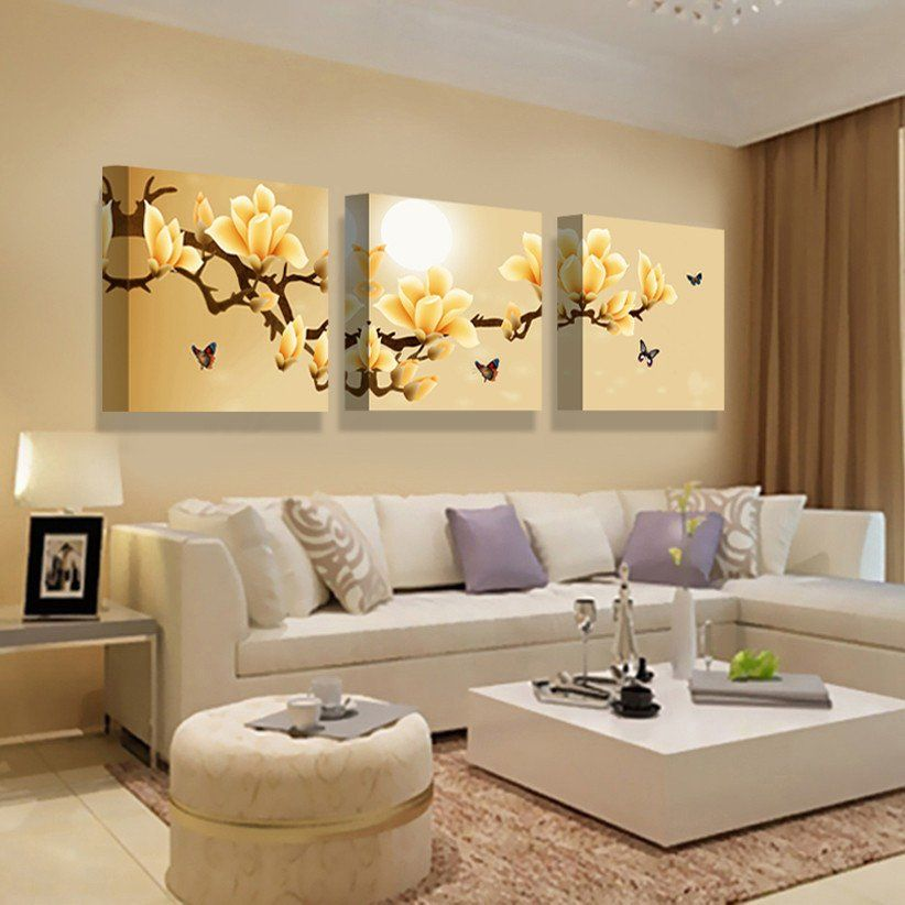 3 Split Wall Art orchids Decoration canvas | Interior Design ...