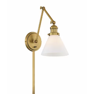 George Oliver Keating 1 Light Armed Sconce Wayfair Swing Arm Lamp Lamp Swing Arm Wall Lamps
