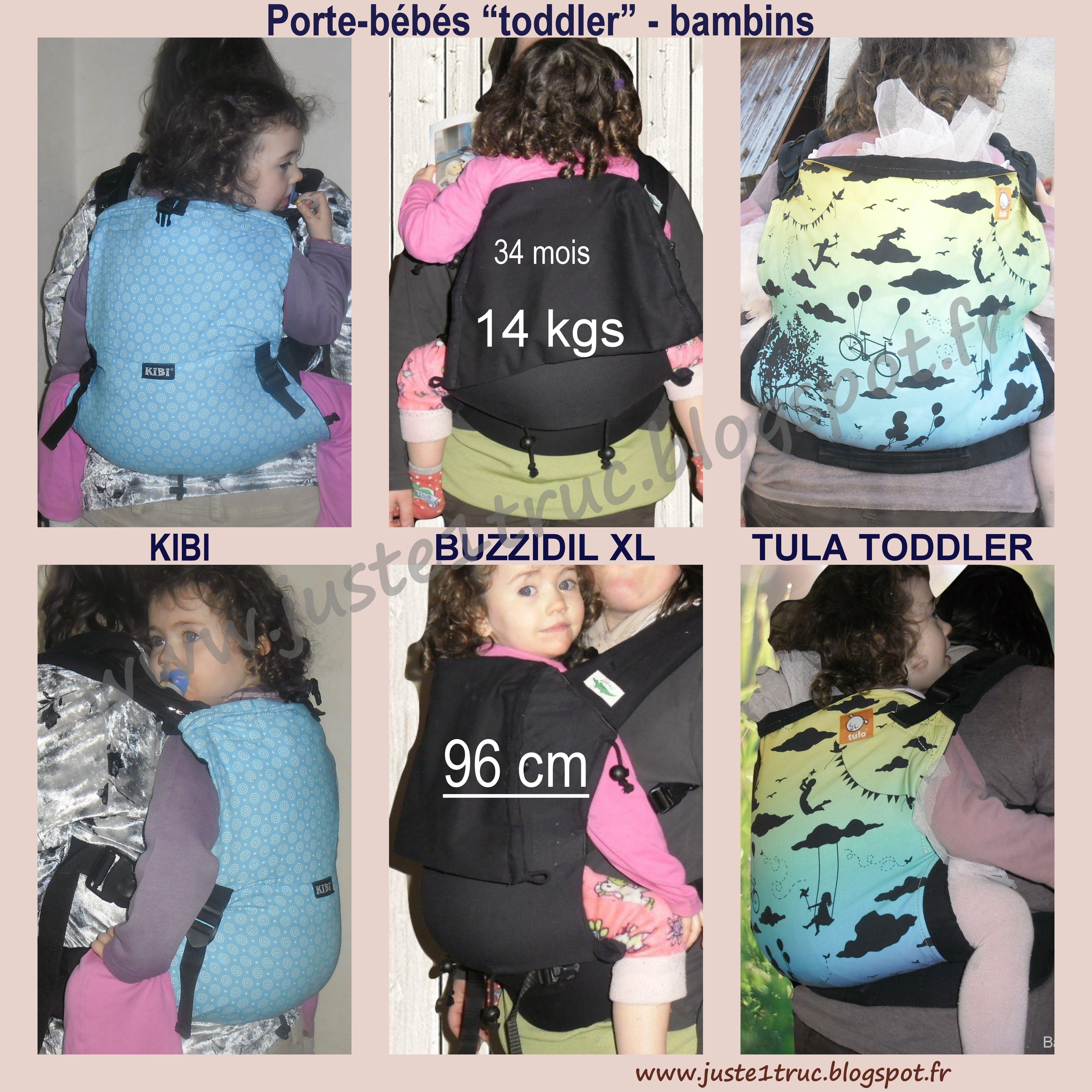 KIBI Buzzidil XL Tula Toddler babycarrier préformés bambins Portage  babywearing e5ef8bdb2b1