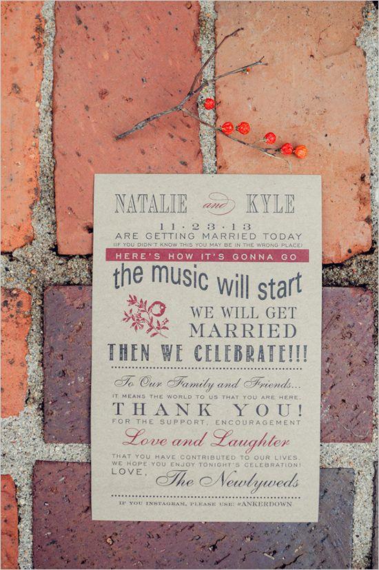 Family Farmhouse Wedding Retreat | Wedding ceremony programs ...