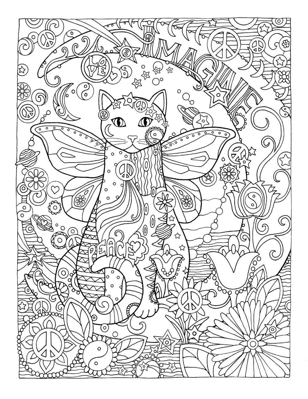 Creative cats colouring book imagine by marjorie sarnat coloring