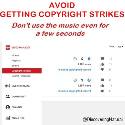 According To Youtube Receiving A Copyright Strike Will Put Your Account In Bad Standing And You Will Lose Access To Cer You Youtube Copyright Music All Video