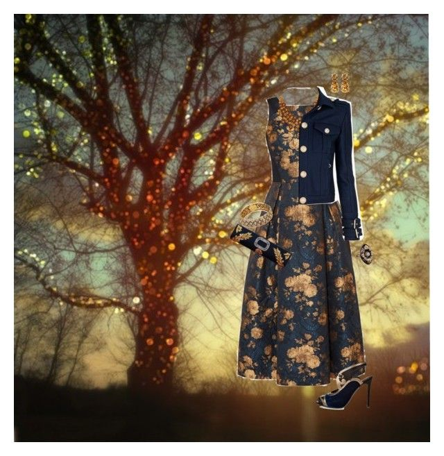 """Nice Dress & A Sunset"" by krazyk8e ❤ liked on Polyvore featuring Ted Baker, Etro, Roger Vivier, Roberto Cavalli, Balmain, Kate Spade, Shay, women's clothing, women and female"