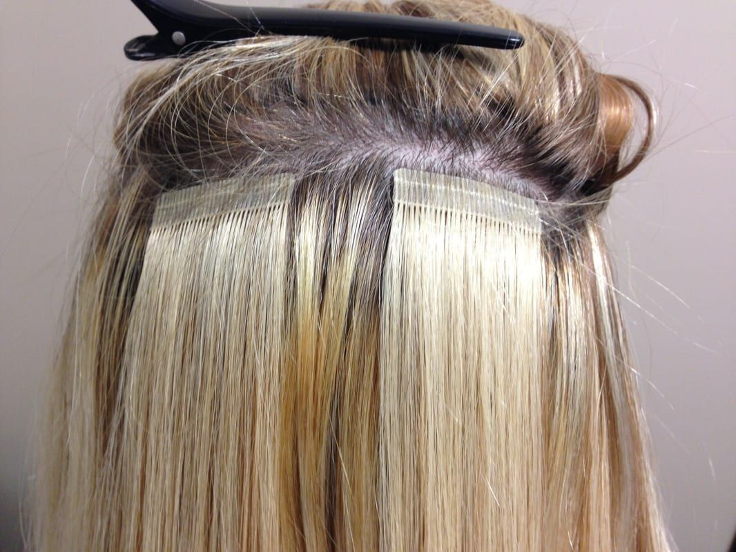 How to apply tape in hair extensions for thin hair diy