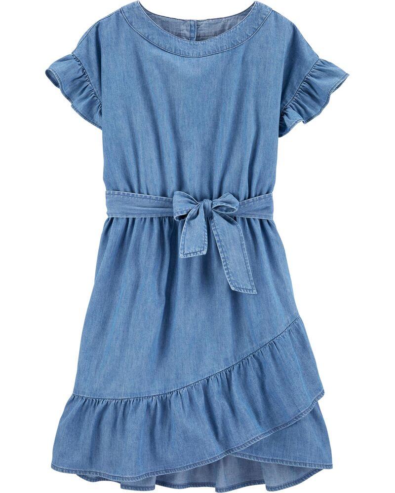 Ruffle Denim Dress Denim Ruffle Dress Girls Denim Dress Kids Denim Dress [ 1000 x 800 Pixel ]