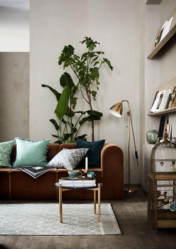 Wohnzimmer mit vielen Kissen und Pflanzen - Die perfekte Mischung ...