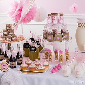 A Pink And Gold Tablescape Sets The Royal Scene Baby