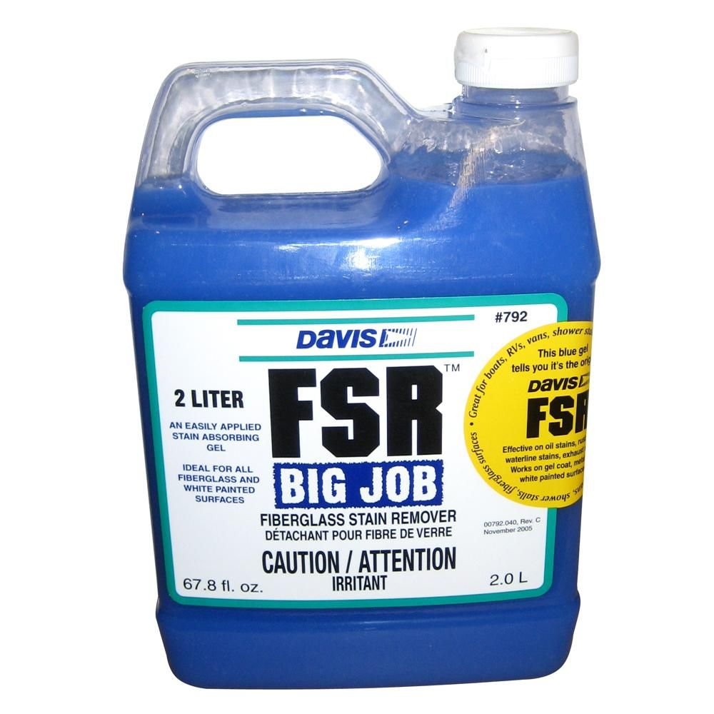 Davis Fsr Big Job Fiberglass Stain Remover 2 Liter 792 Remove Oil Stains Oil Stains
