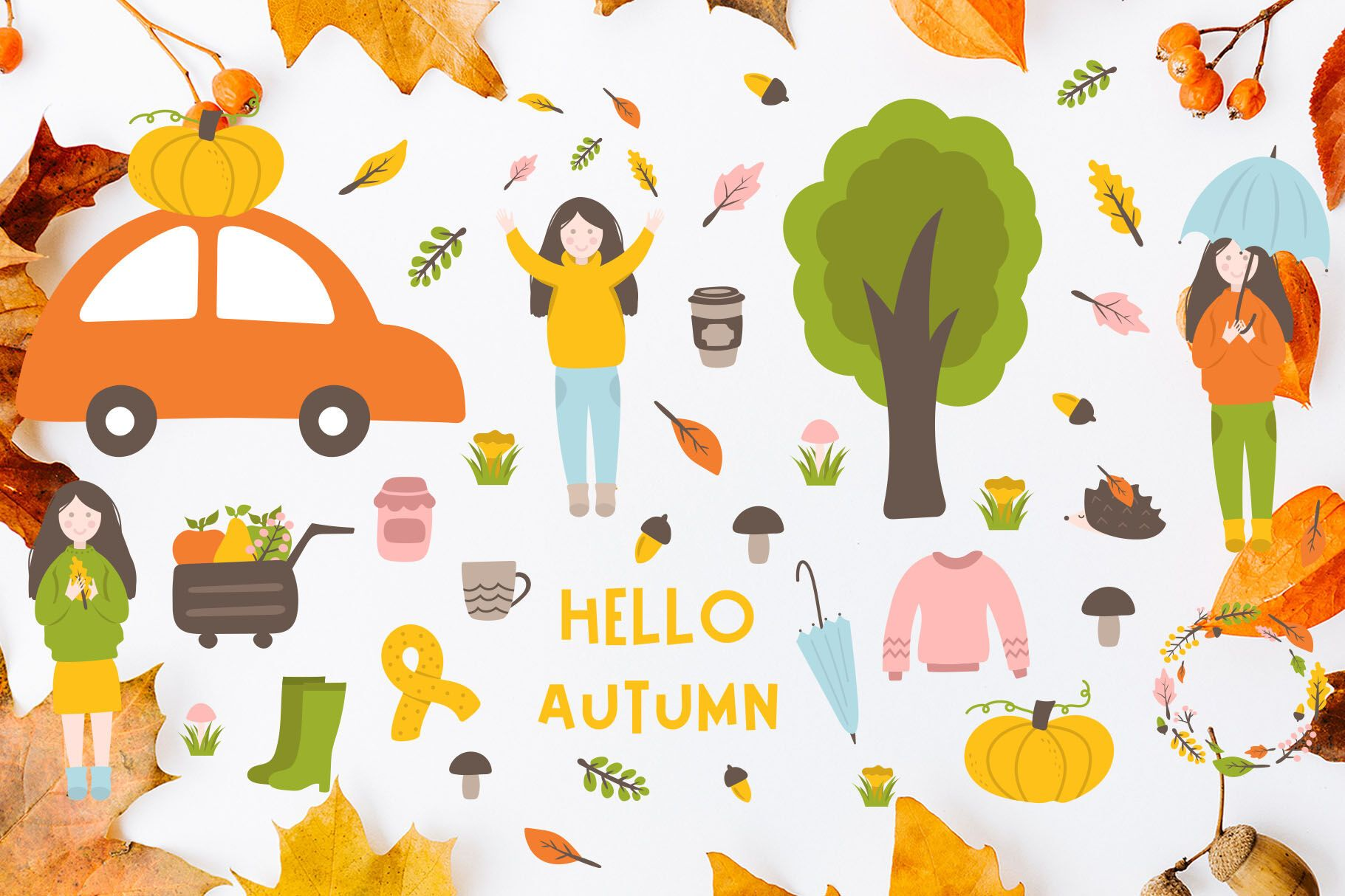 Pin by ussdy on Icons Illustration Drawings Hello autumn