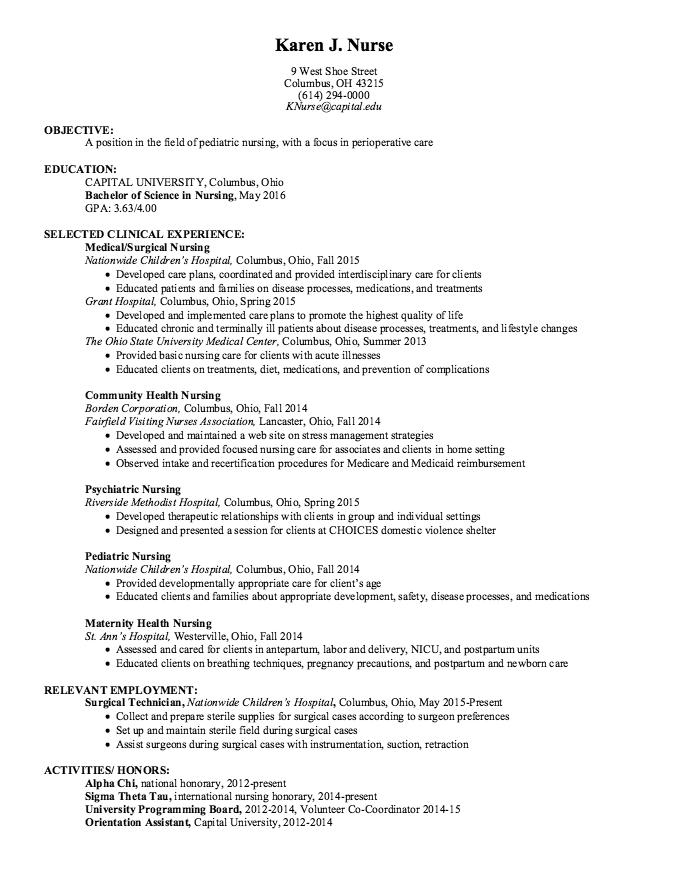Sample Pediatric Nursing Resume Free Resume Sample Pediatric Nursing Nursing Resume Sample Resume Templates