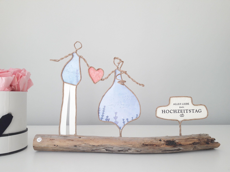 Das Besondere Und Hochwertige Geschenk Zum Hochzeitstag Papierdrahtfiguren Paar Mit Herz Alles Liebe Zum Hochzeitsta High Quality Gifts Wedding Day Wedding