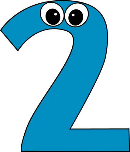 Cartoon Number Two Clip Art Cartoon Number Two Image Numbers Preschool Math Number Cards Number Two
