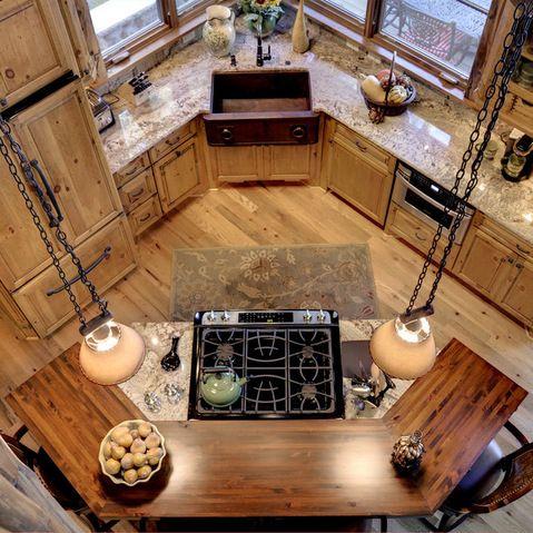 Kitchen Top View Log Home Kitchens Kitchen Island With Stove Corner Sink Kitchen