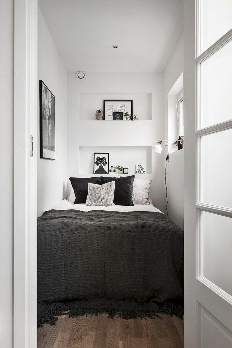 95 Remarkable Scandinavian Bedroom Decor Ideas Scandinavian Scandinavianbedroom Bedro Very Small Bedroom Small Apartment Bedrooms Small Bedroom Inspiration