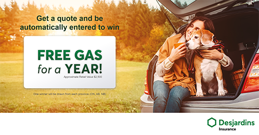 Quality Insurance And Free Gas With Desjardins Free Gas Winter