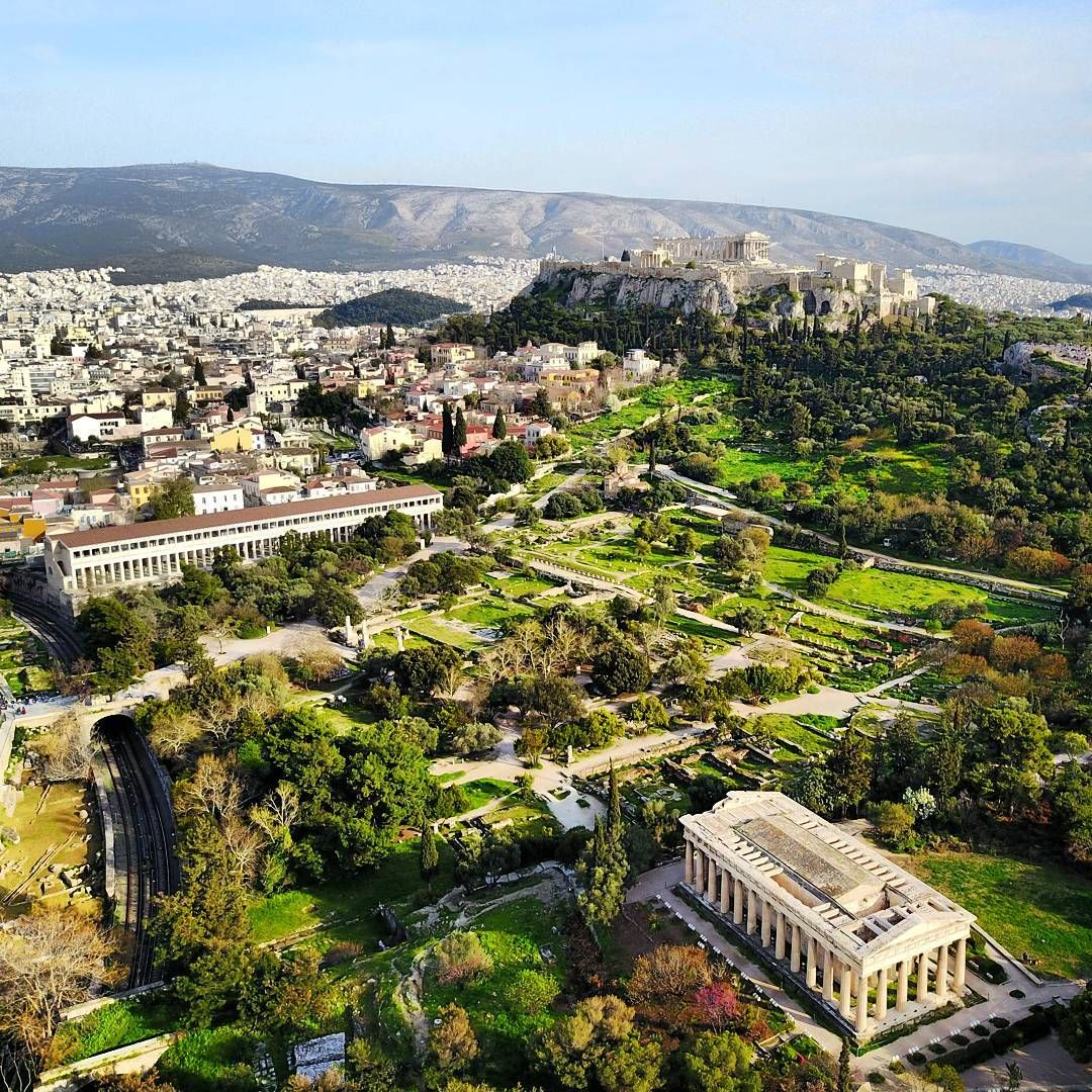 Sunday Afternoon Air Tour Acropolis Agora Templeofifestos