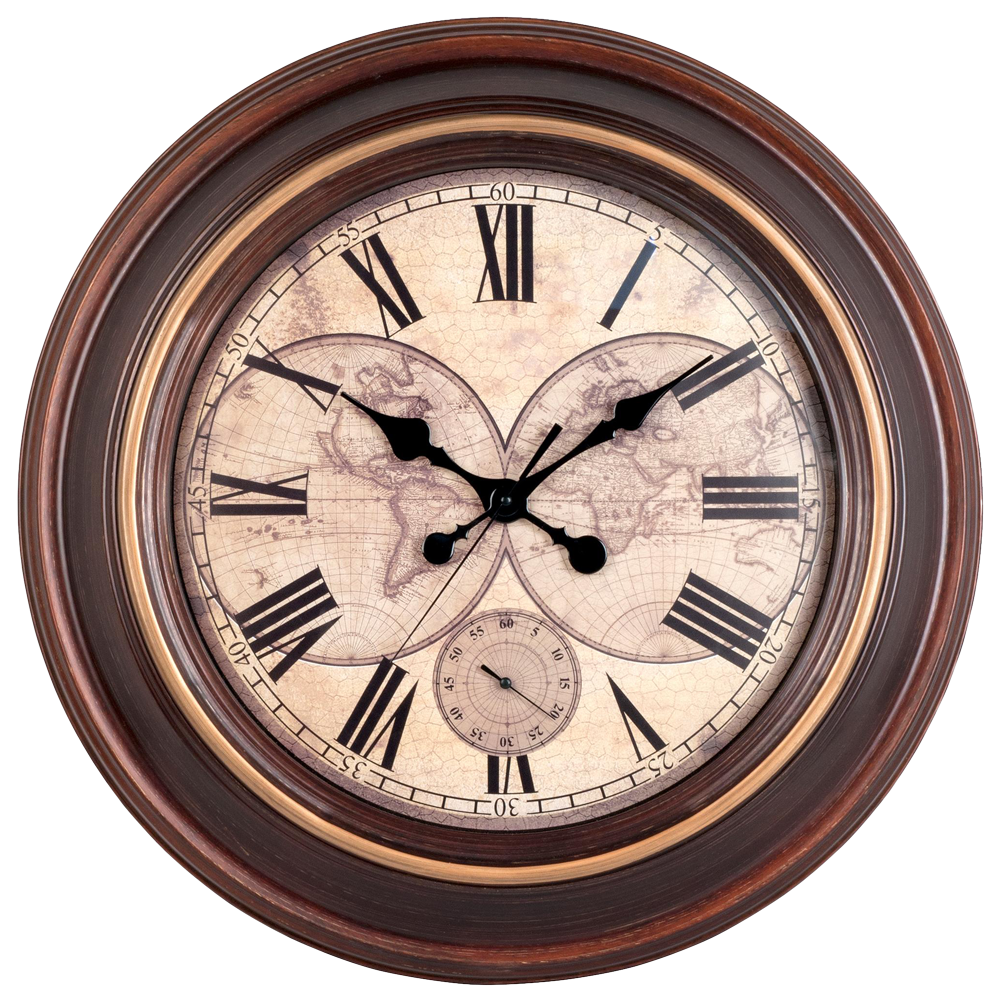 Better Homes & Gardens Rustic Round Wall Clock 28