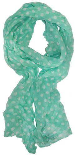 LibbySue-Whisper Weight Polka-Dot Print Scarf in Spring, Summer Colors of Mint Green LibbySue,http://www.amazon.com/dp/B00C3EX814/ref=cm_sw_r_pi_dp_OkbBrb859B184A89