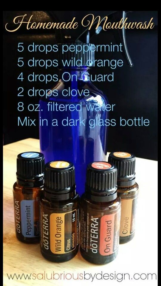 Homemade Mouthwash With Doterra Essential Oils