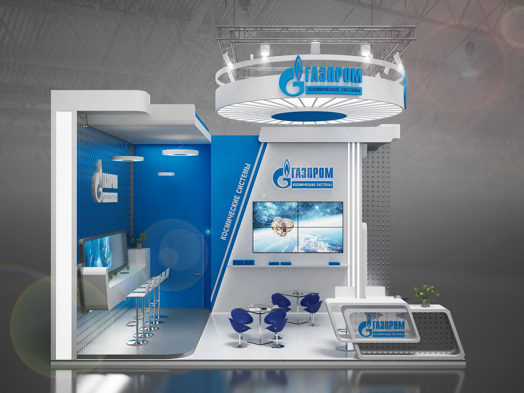 Exhibition Stall Reference : Exhibition stand ГАЗПРОМ Космические системы gxgroup