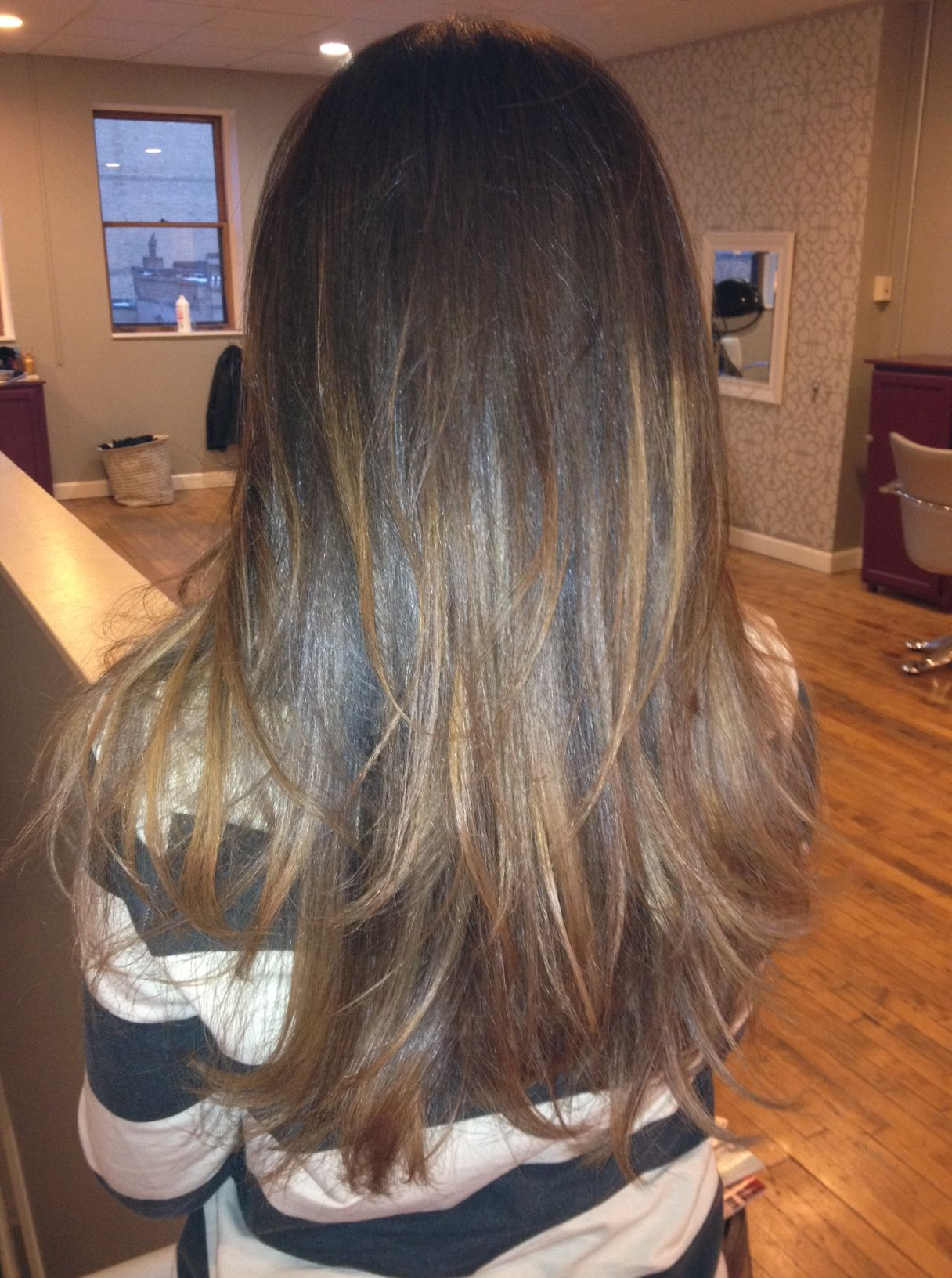Ombreu highlights u balayage hair painting hair pinterest hair