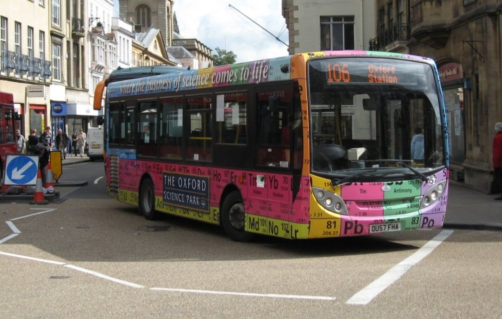 A bus dressed as a periodic table used to advertise the oxford a bus dressed as a periodic table used to advertise the oxford science park urtaz