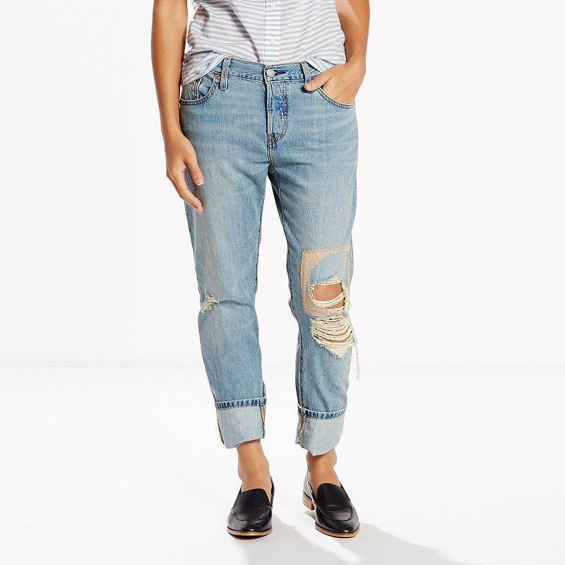 Women's Levi's® 501® CT Boyfriend Jeans, Size: 8/29 Tall, Med ...