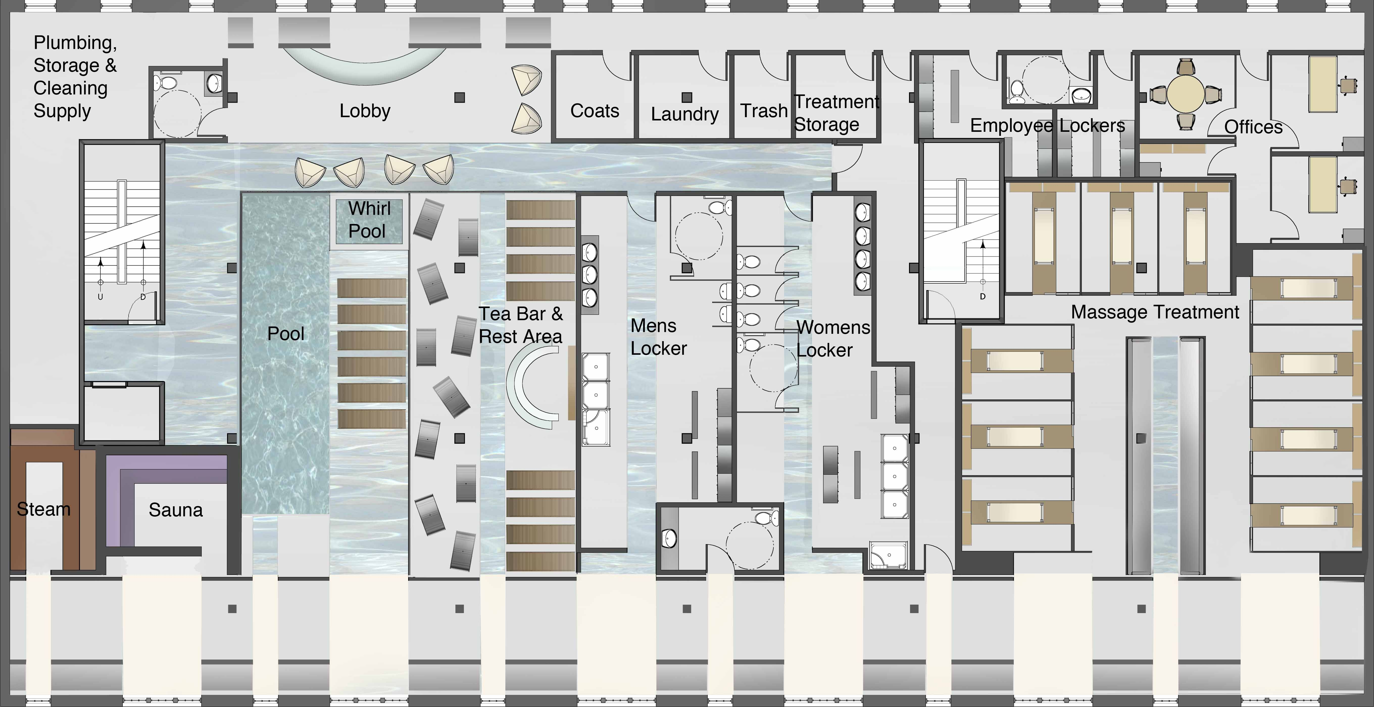 Business Plan Boutique Decoration Luxury Spa Floor Plan Design On Home Decoration Ideas With