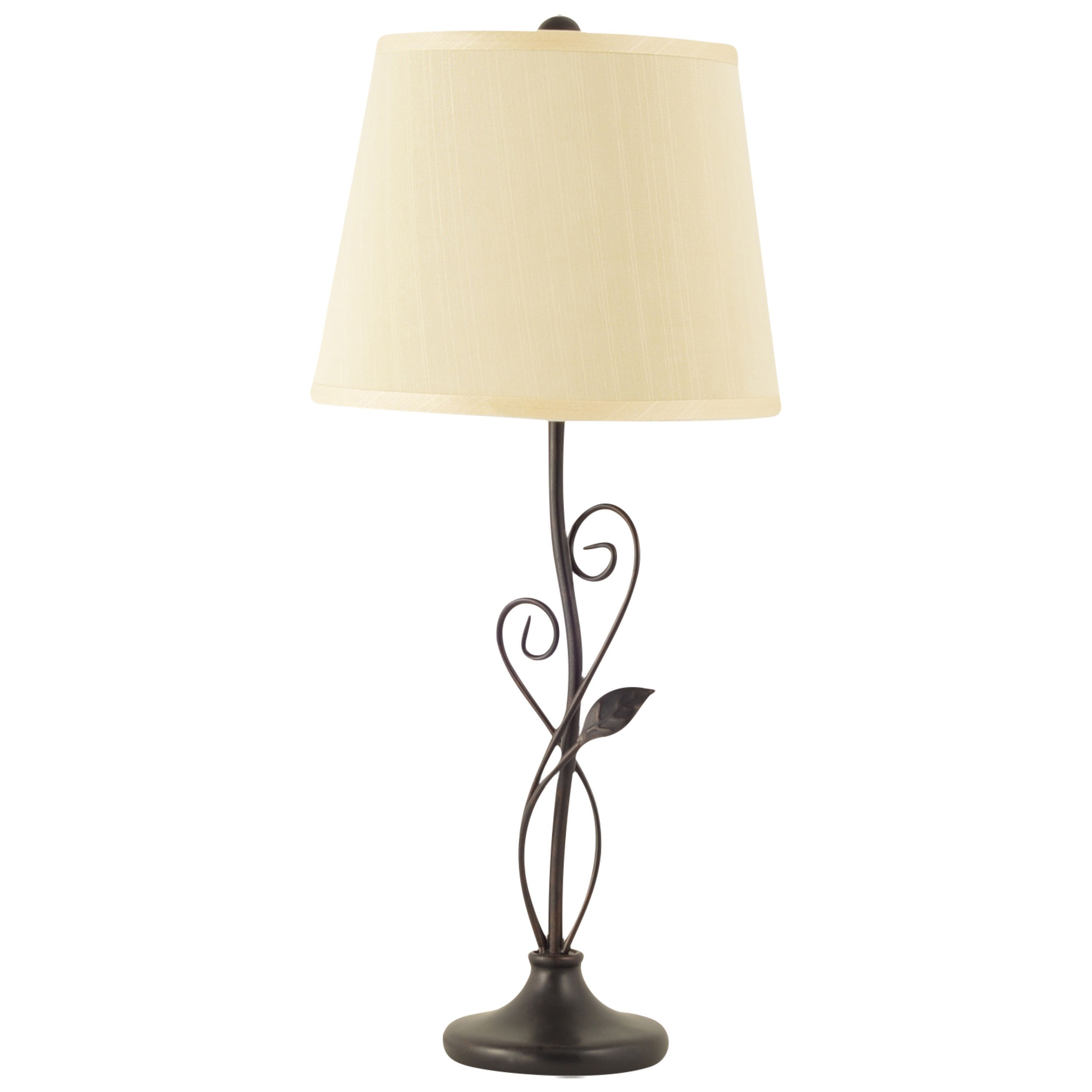 Design craft cirrus bronze 26 inch table lamp by design craft an oil rubbed sophisticated bronze table lamp adds accentual curves and lines to any geotapseo Choice Image