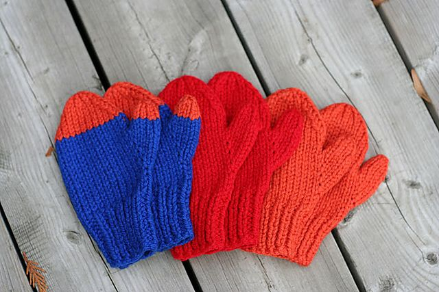 Easy Knit Mittens pattern by Lion Brand Yarn   Knitted ...