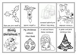 Coloriage Anglais De Noel.My Christmas Colours Minibook Anglais Christmas Colors