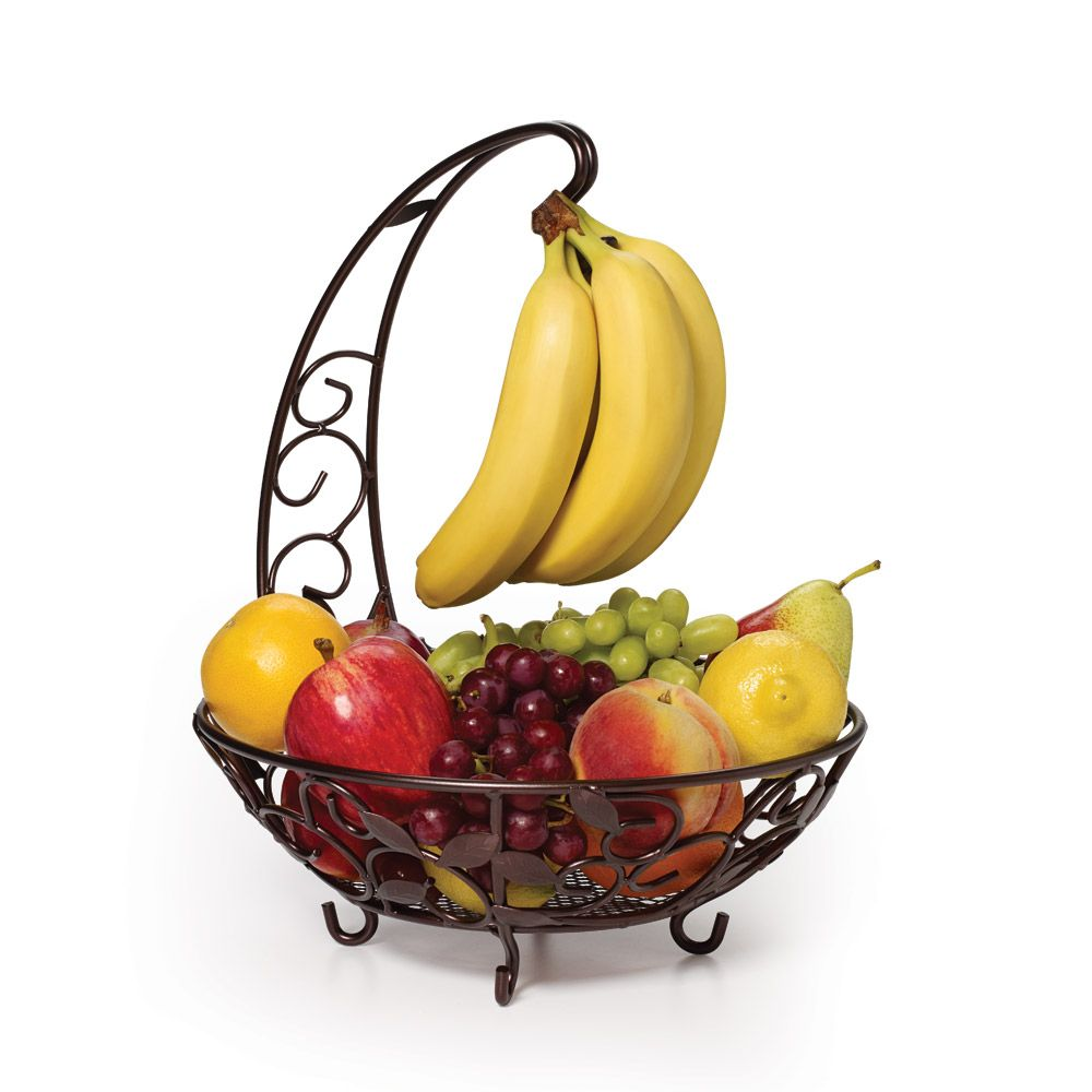 Fruit Basket With Banana Hanger | Pinterest | Hanger, Wire fruit ...