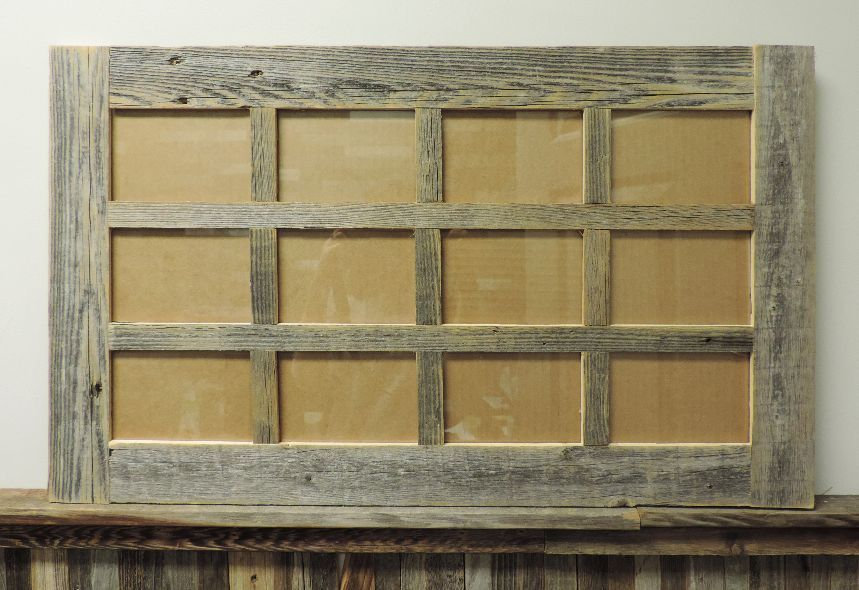 New Barn Wood Reclaimed Multi 12 Photo Picture Frame Collage 4x6 Rustic Decor Handmade Country Picture On Wood Multi Picture Frames Barn Wood Photo