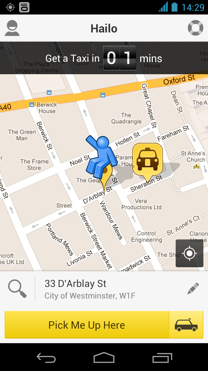 Hailo app allows you to hail a cab from anywhere in NYC