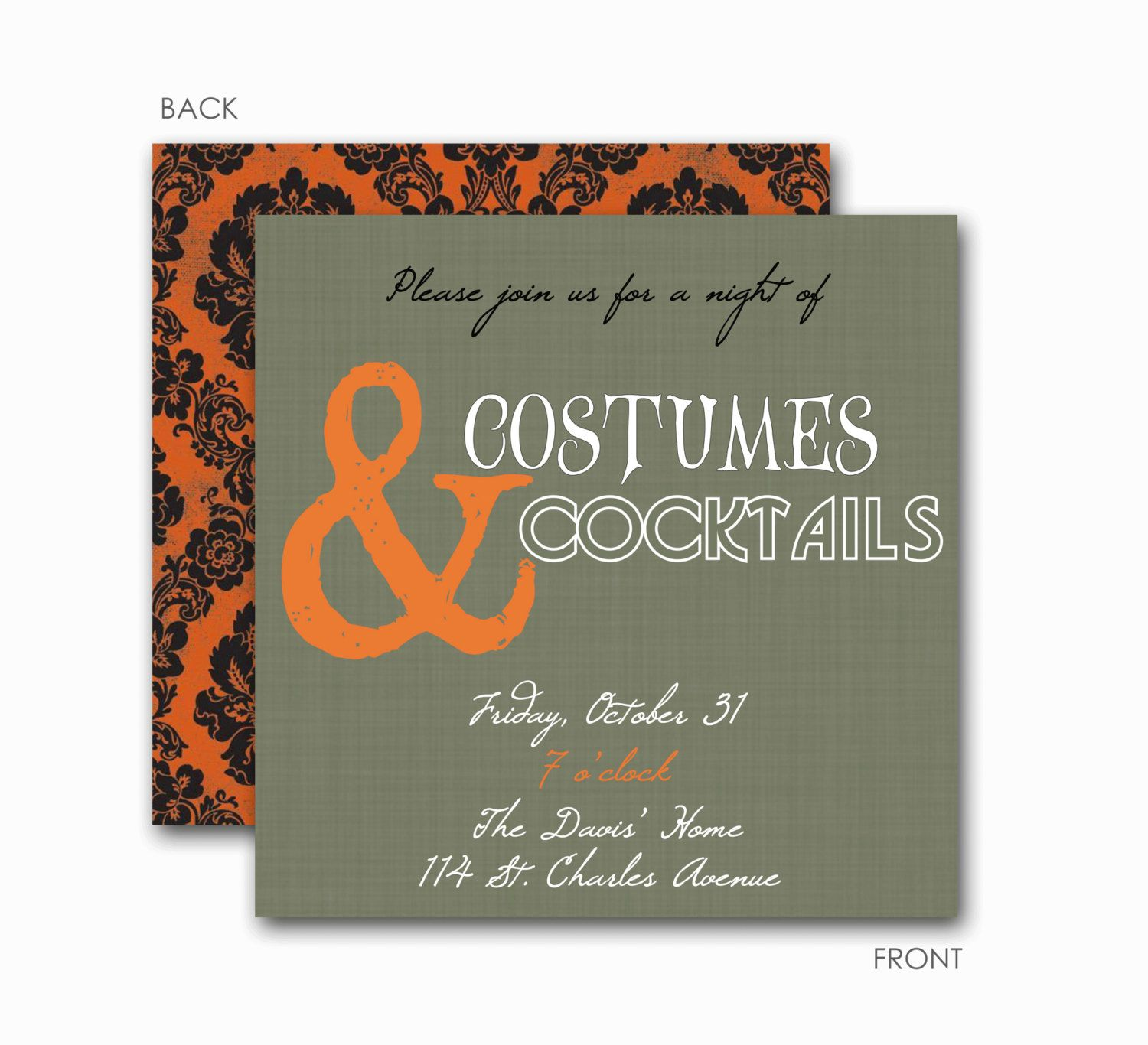 Hallowen Party Invitations, Halloween Party, Adult Halloween Party ...