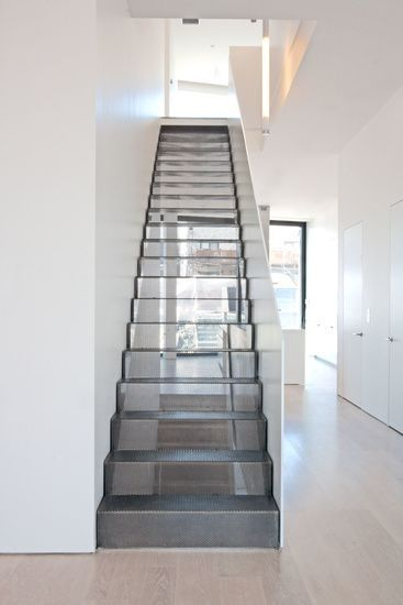 Perforated Metal Outtake Semi Transparent Staircase